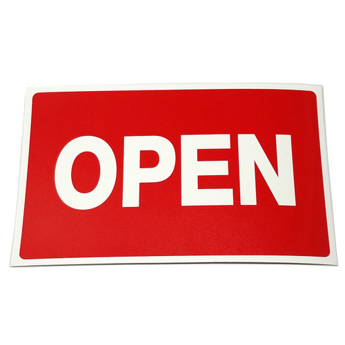 OPEN Business Sign with Suction Cup Sign Holder