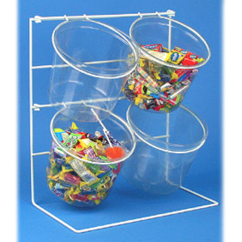 Counter Top Clear Bucket Display 4 Jars