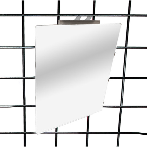 Slatwall & Gridwall Acrylic Mirror with Smooth Rounded Corners