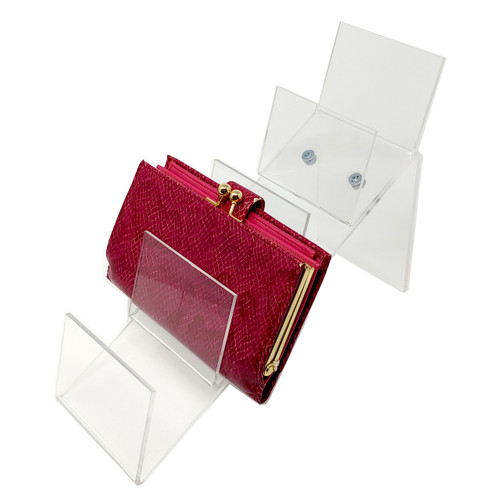 Acrylic Counter Top Clutch Handbag Holding Display