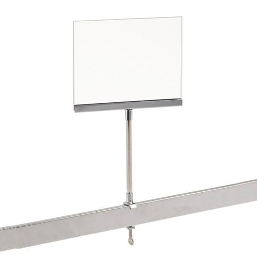 "Universal Retail Rack Acrylic Sign Holder, 5.5"" x 7"""