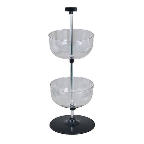 Counter Top 2-Tier Spinning Bowl Display