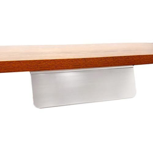 "Wood Shelf Adhesive Sign Holder, 2.2"" x 7.5"""