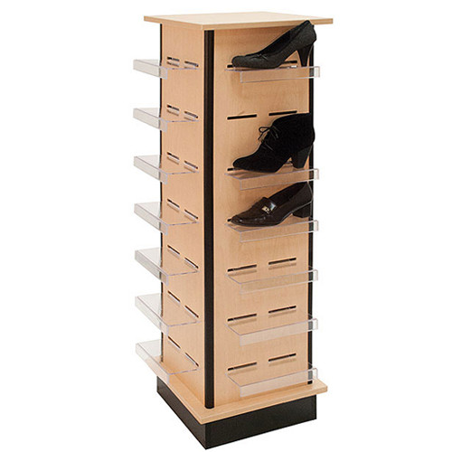 "54"" H Slatwall Shoe Tower with 28 Shoe Shelves"
