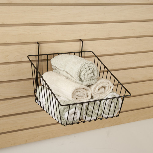 "12"" W Sloped Front Retail Wire Baskets, 6 Pack"