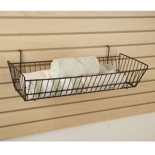 Double Sloping Retail Wire Baskets, 6 Pack