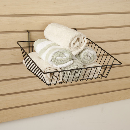 "5"" H Shallow Sloping Retail Wire Baskets, 6 Pack"