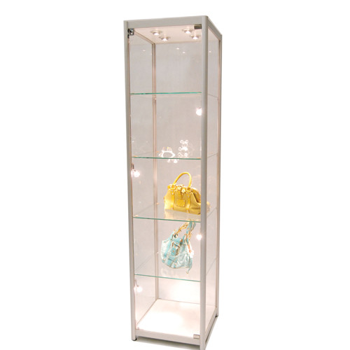 Aluminum Glass Tower Display Case