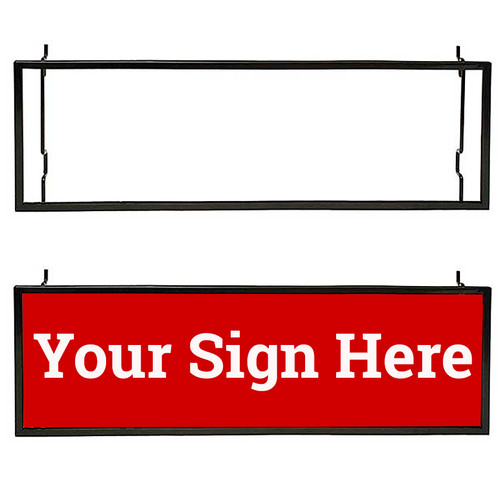 "Slatwall, Gridwall & Pegboard Sign Card Holder, 7"" x 22"""
