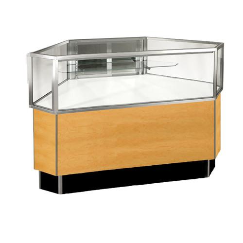 Half Vision Outside Corner Glass Showcase