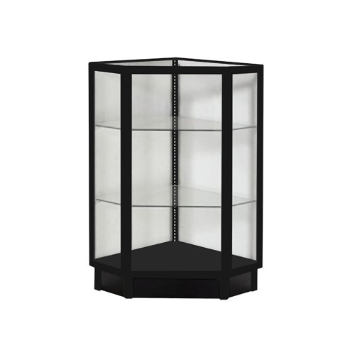 Black Economy Extra Vision Corner Filler Glass Showcase