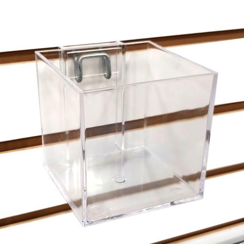 "Slatwall & Pegboard 4"" Acrylic Cube Dump Bin Display"