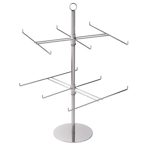 "2 Tier Counter Top Spinner with 6"" D Hooks"