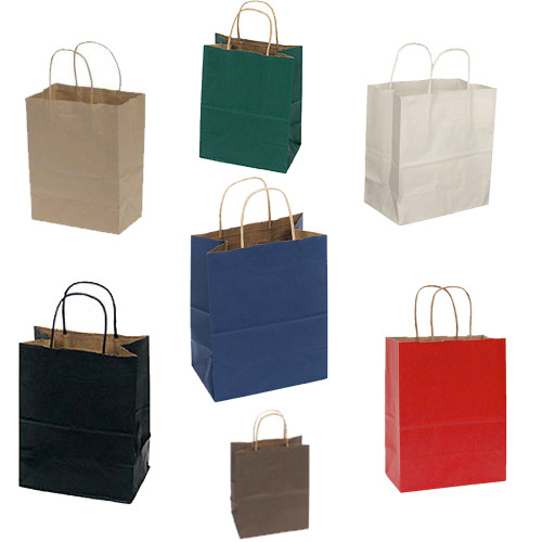 """Small Paper Shopping Bags, 8"""" x 5"""" x 10"""""""