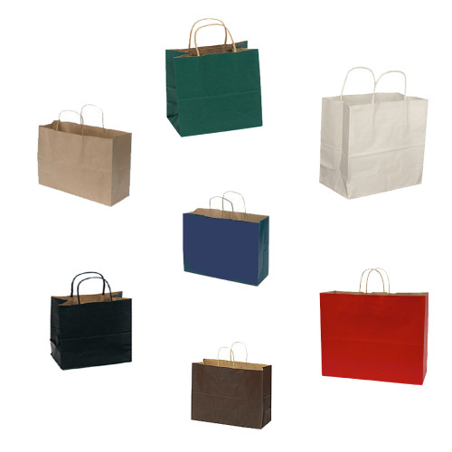 """Large Paper Shopping Bags, 16"""" x 6"""" x 19"""""""