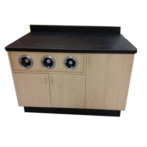 Wall Food Service Counter with Cup Dispensers