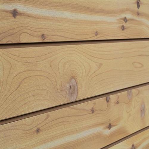 3D Slatwall Panel 2' x 8' - Natural Cedar