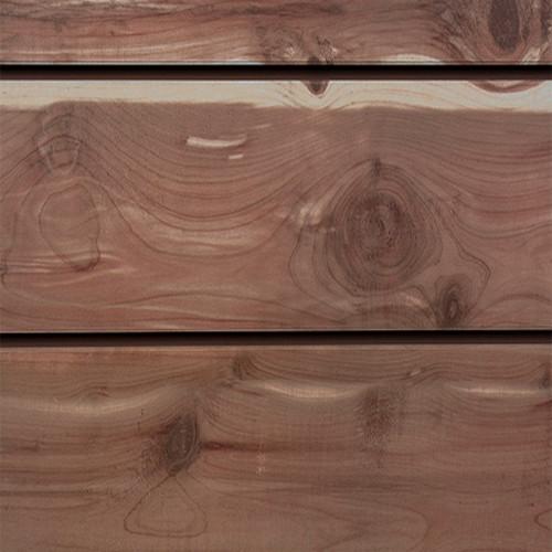 3D Slatwall Panel 2' x 8' - Red Cedar