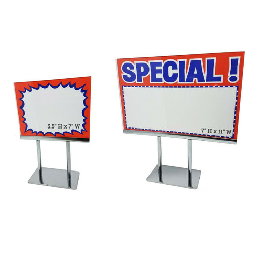 Countertop Acrylic Frame Sign Holders