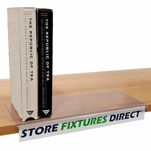 Movable Box & Bookshelf Sign Holder, Card Grip Display