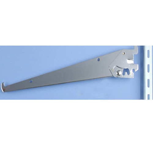 Adjustable Angle Shelf Brackets for Slotted Wall Standards