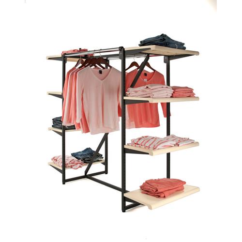 Double Hangrail 8 Shelf Merchandise Rack