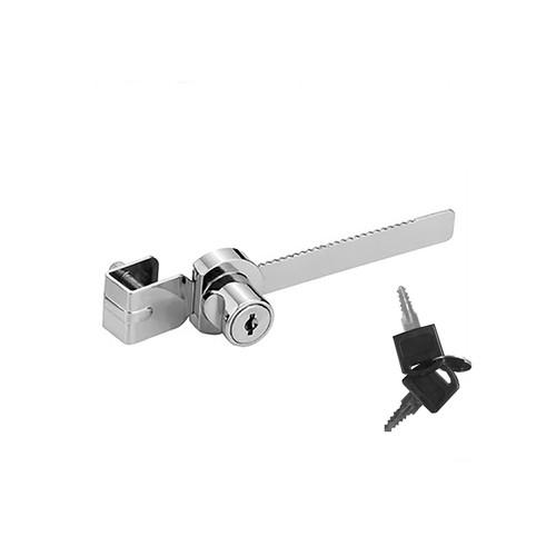Glass Showcase Door Lock, Sliding Glass Cabinet Rachet Lock with Keys