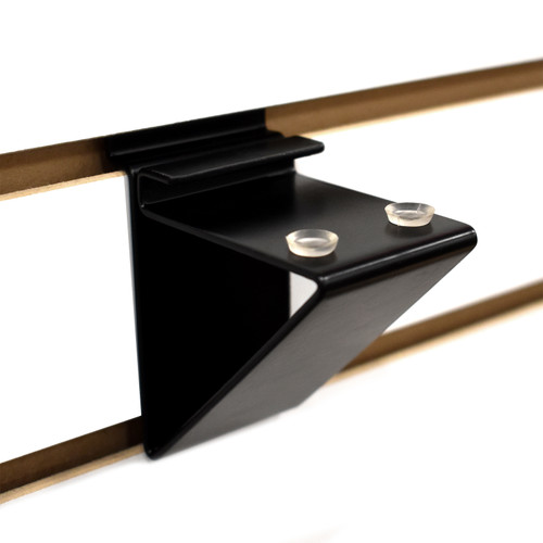 Slatwall Glass Shelf Bracket, Low Profile Support for Glass Shelving