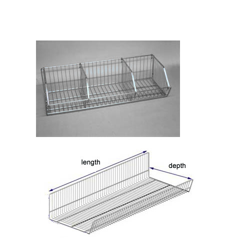 Open End Baskets for Slatwall or Gondola Shelves