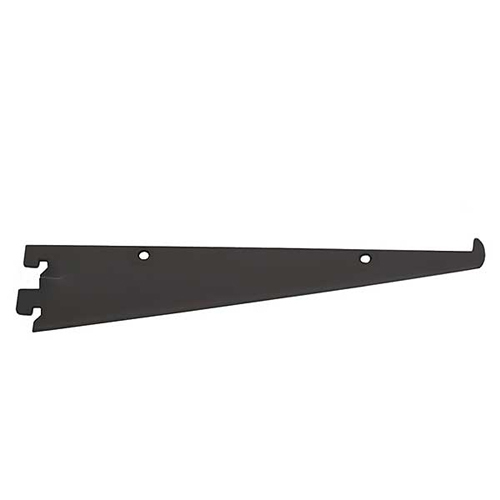 Black Shelf Brackets for Medium Duty Slotted Wall Standards