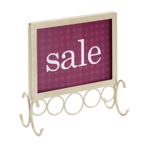 Boutique Old World Style Pearl Sign Holder