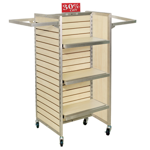 Sleek Maple Slatwall Merchandiser
