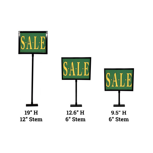 "Black Gondola & Retail Rack Magnetic Base Sign Holder, 5.5"" H x 7"""