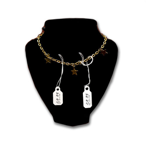 White Blank Pre-Strung Jewelry Price Tags