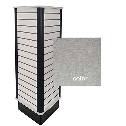 Slatwall 3 Side Triangle Unit - Brushed Aluminum