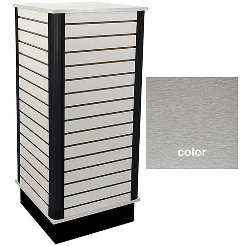 Slatwall Cube Unit - Brushed Aluminum