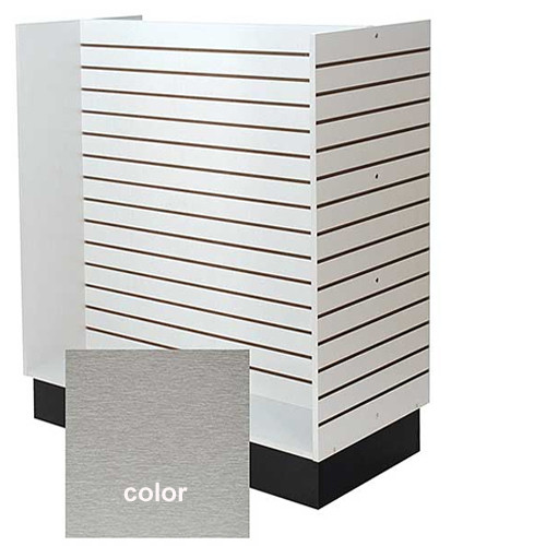 "Slatwall H Gondola Unit - 48"" - Brushed Aluminum"