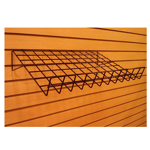Slatwall Wire Angled Shelf, 6 Pack