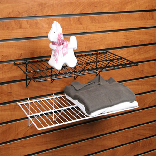Slatwall Wire Shelf 12 x 24, 6 Pack