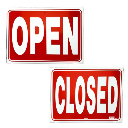Jumbo Extra Large Open & Closed Window Sign