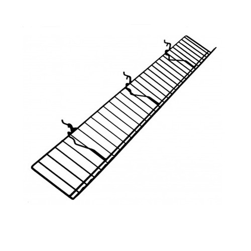 Gridwall POP Wire Metal Angled Display Shelf - Black