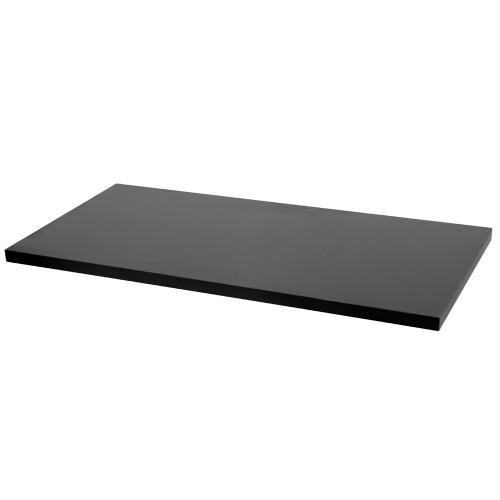 "Black Wood Melamine Shelf, 12"" D x 24"" L"