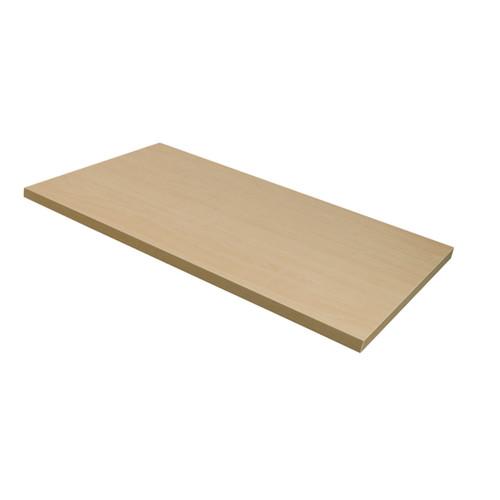 "Maple Wood Melamine Shelf, 12"" D X 48"" L"