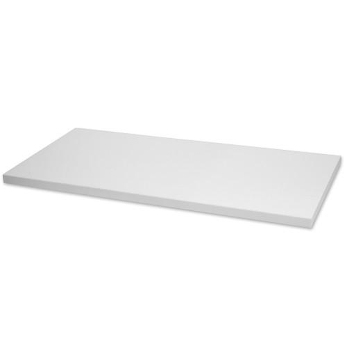 "White Melamine Wood Shelf, 12"" D x 48"" L"