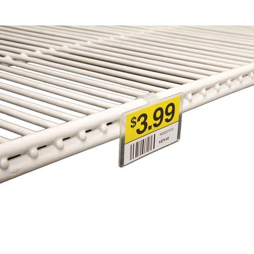 Clip on UPC Label Holder for Coolers, Freezers & Refrigerators - 50 Pack