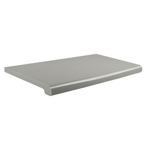 "Gray Plastic Bullnose Shelf, 13"" D X 24""L"