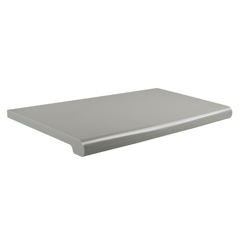 "Gray Plastic Bullnose Shelf, 13"" D X 48""L"