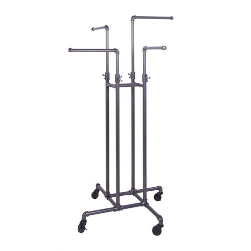 Grey Pipeline 4 Way Rack