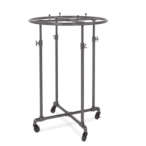 "Grey Pipeline 36"" Round Rack"