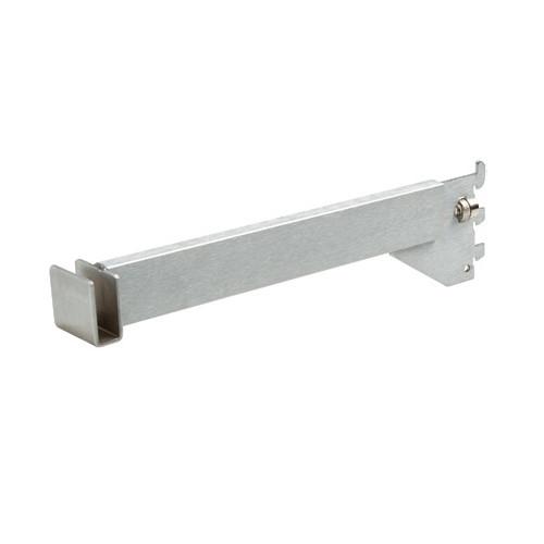 "Satin Chrome Hangrail Bracket, 12"" L"
